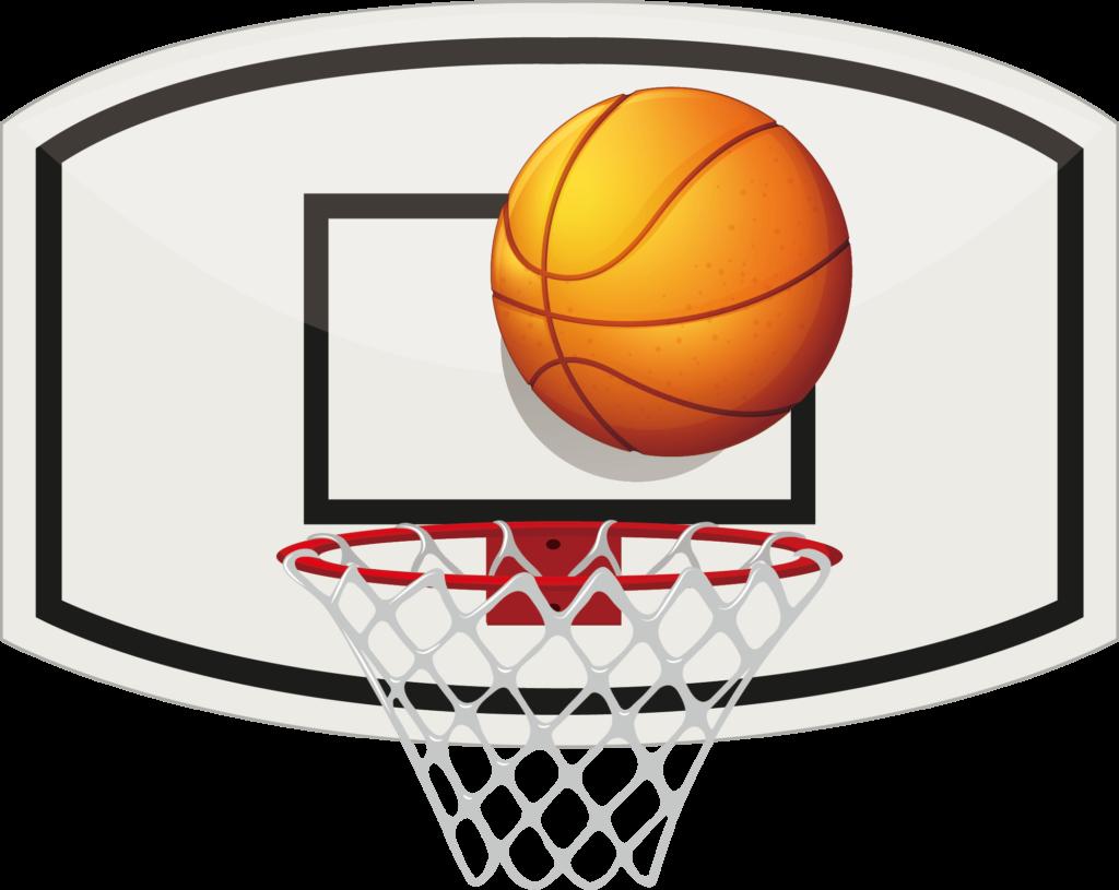 Basket, Backboard and Ball