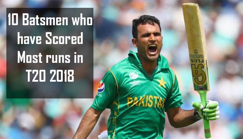 Most runs in T20 2018