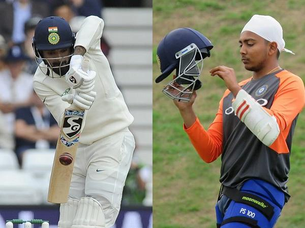 KL Rahul and Prithvi Shaw