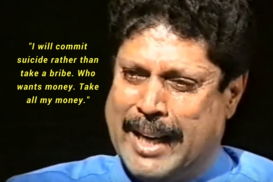 Kapil Dev cried on the National Television