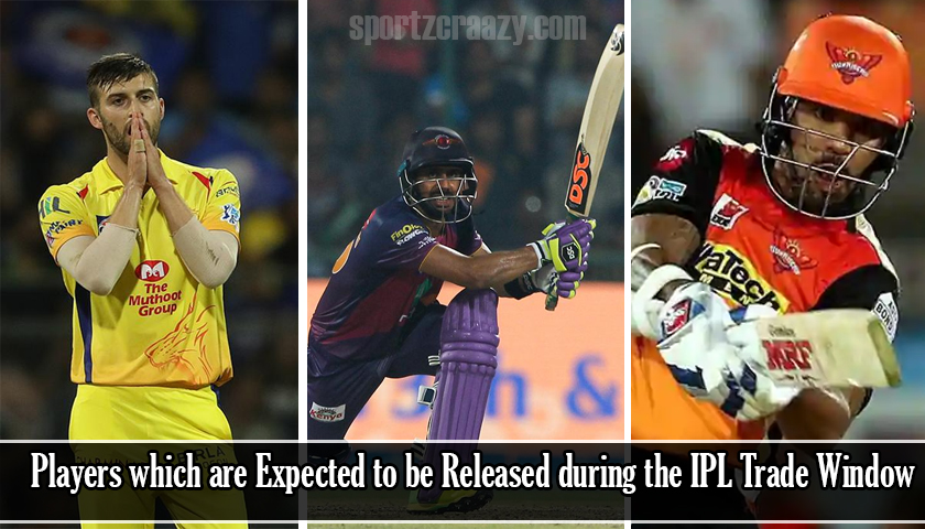 Players which are Expected to be Released during the IPL Trade Window
