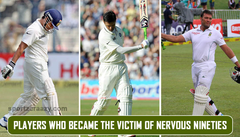 Players who became the victim of nervous nineties
