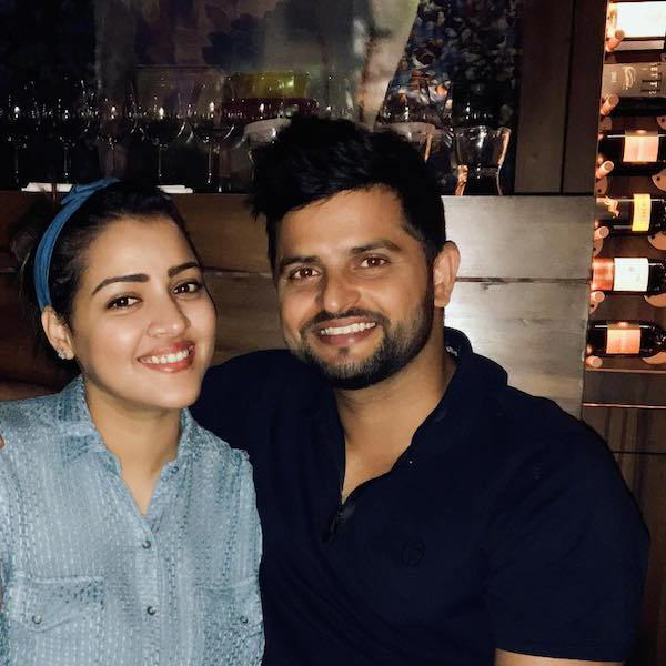 Suresh Raina and Priyanka Choudhary