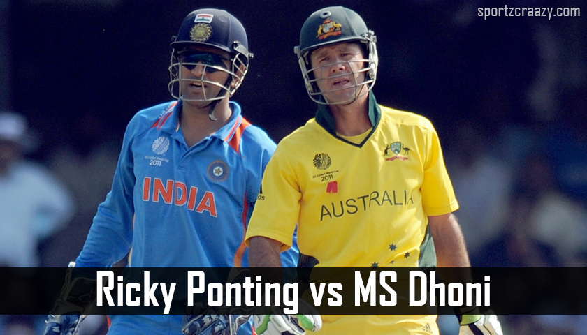 Ricky Ponting vs MS Dhoni