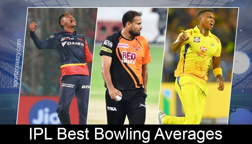 Best Bowling Averages in Indian Premier League