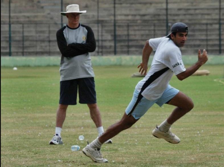 Zaheer Khan with Greg Chappel