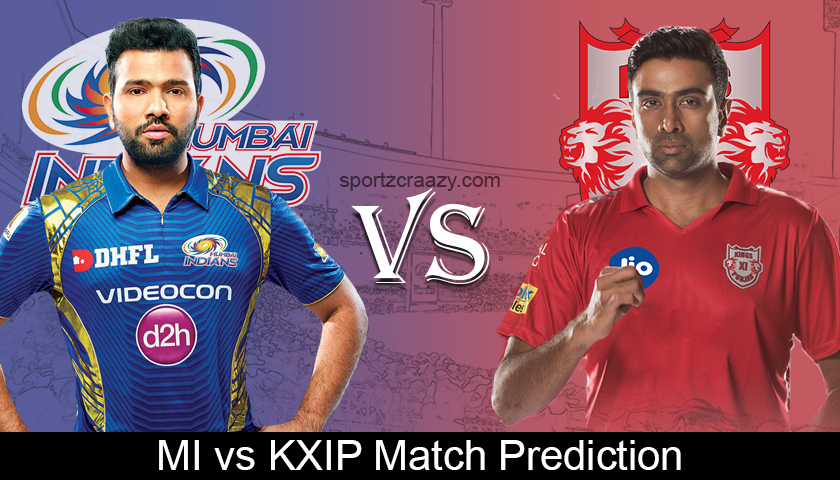 MI VS KXIP Match Prediction