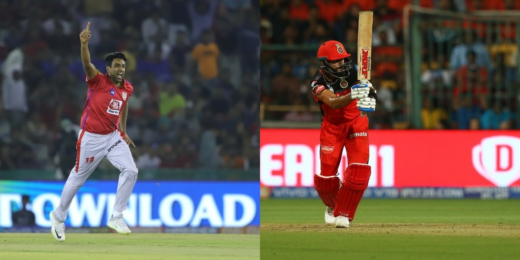 Head To Head Between KXIP And RCB