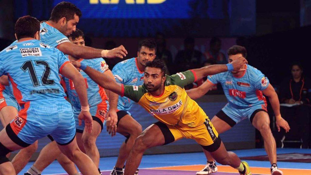 rahul in pro kabaddi league