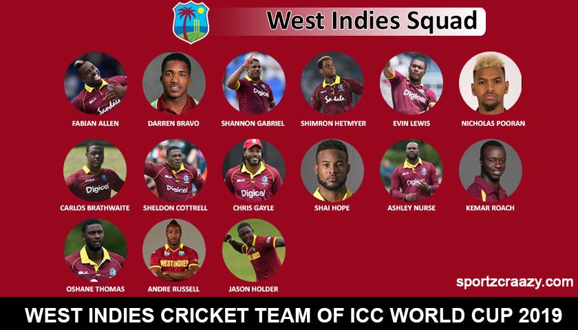 West Indies squad 2019