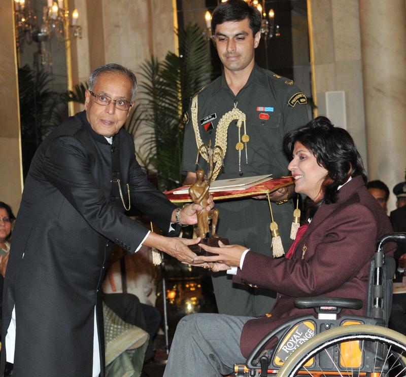 deepa Winning the Arjuna Award