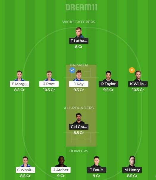 ENG vs NZ Dream11