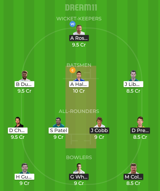 NOR vs NOT Dream11