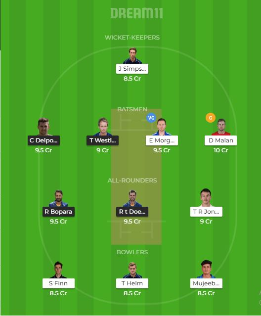 ESS VS MID Dream11 team