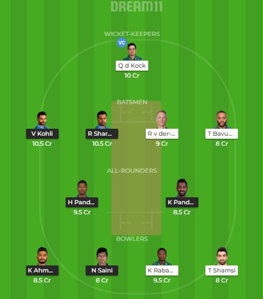 IND vs SA 2nd T20I Dream11 Prediction