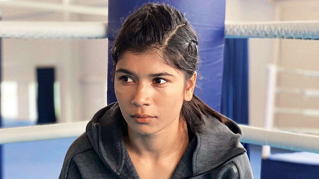 Nikhat Zareen and Mary Kom