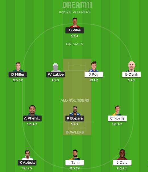 DUR VS NMG Dream11