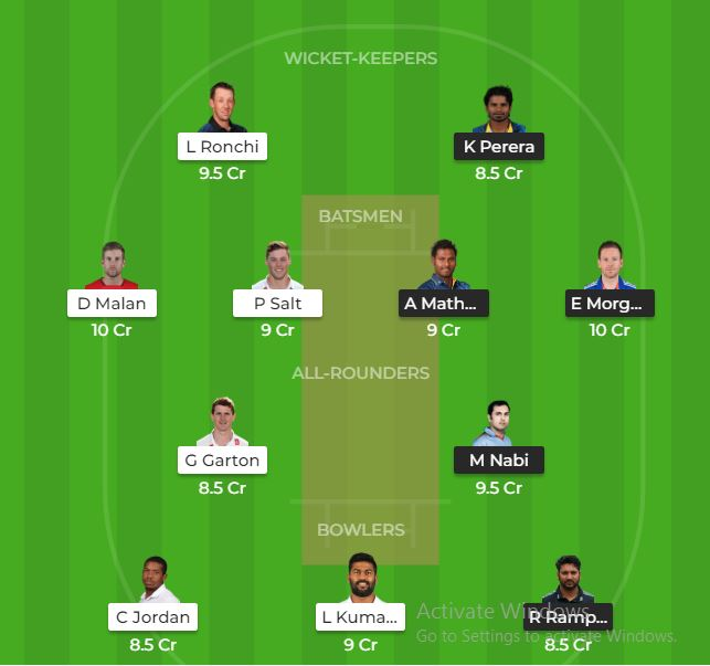 DEB vs QAL Dream11 Team