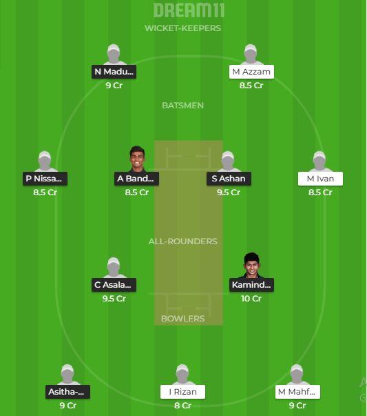 SL-U23 vs MLD Dream 11
